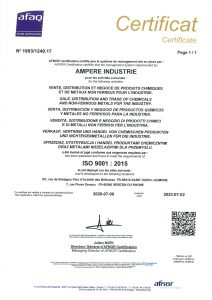 Ampere certificat ISO