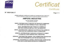Ampere ISO 9001 certificate news